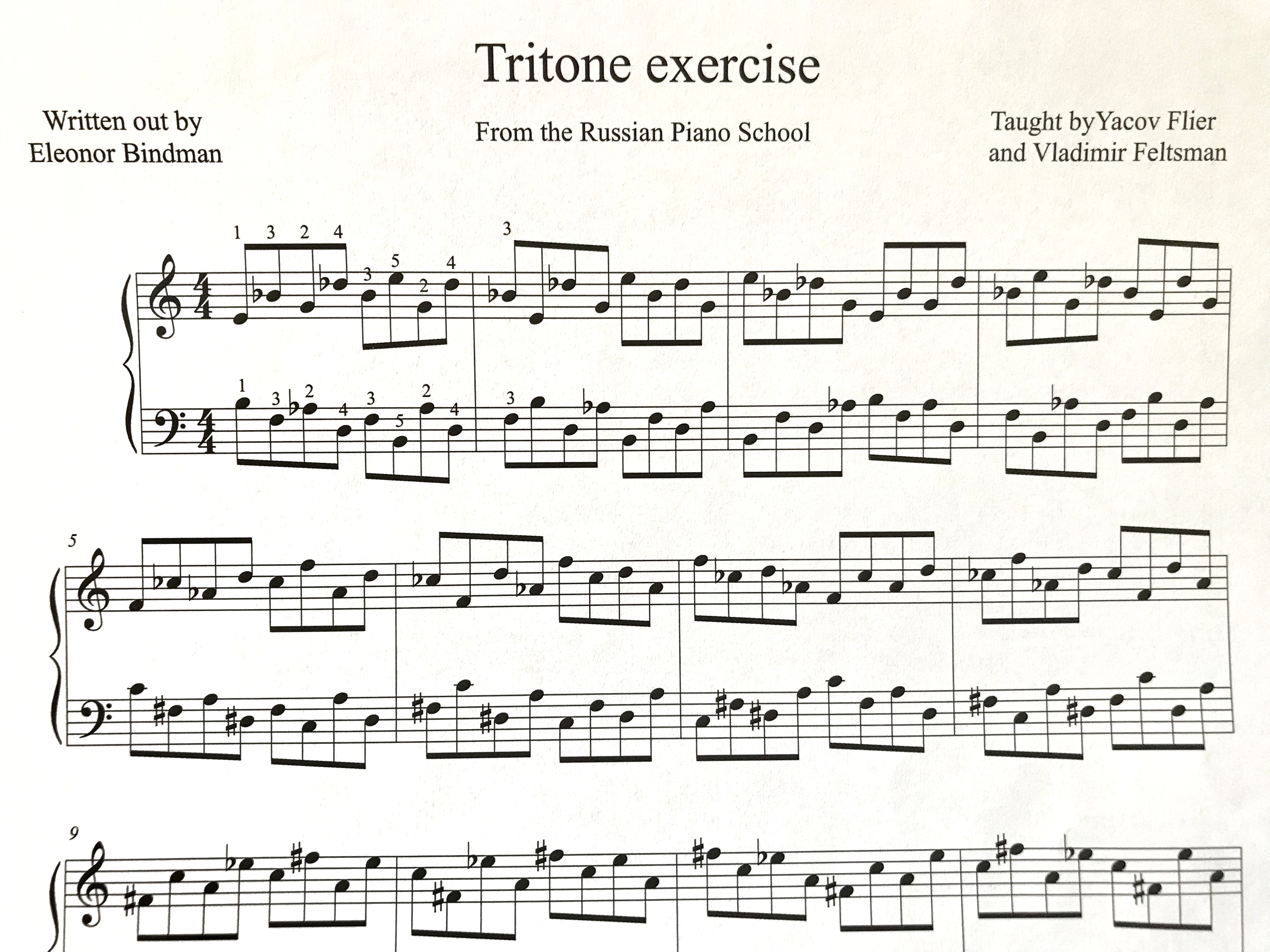 Tritone Exercise from Vladimir Feltsman