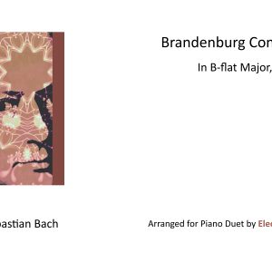 Brandenburg Concerto No. 6 Arranged for Piano Duet