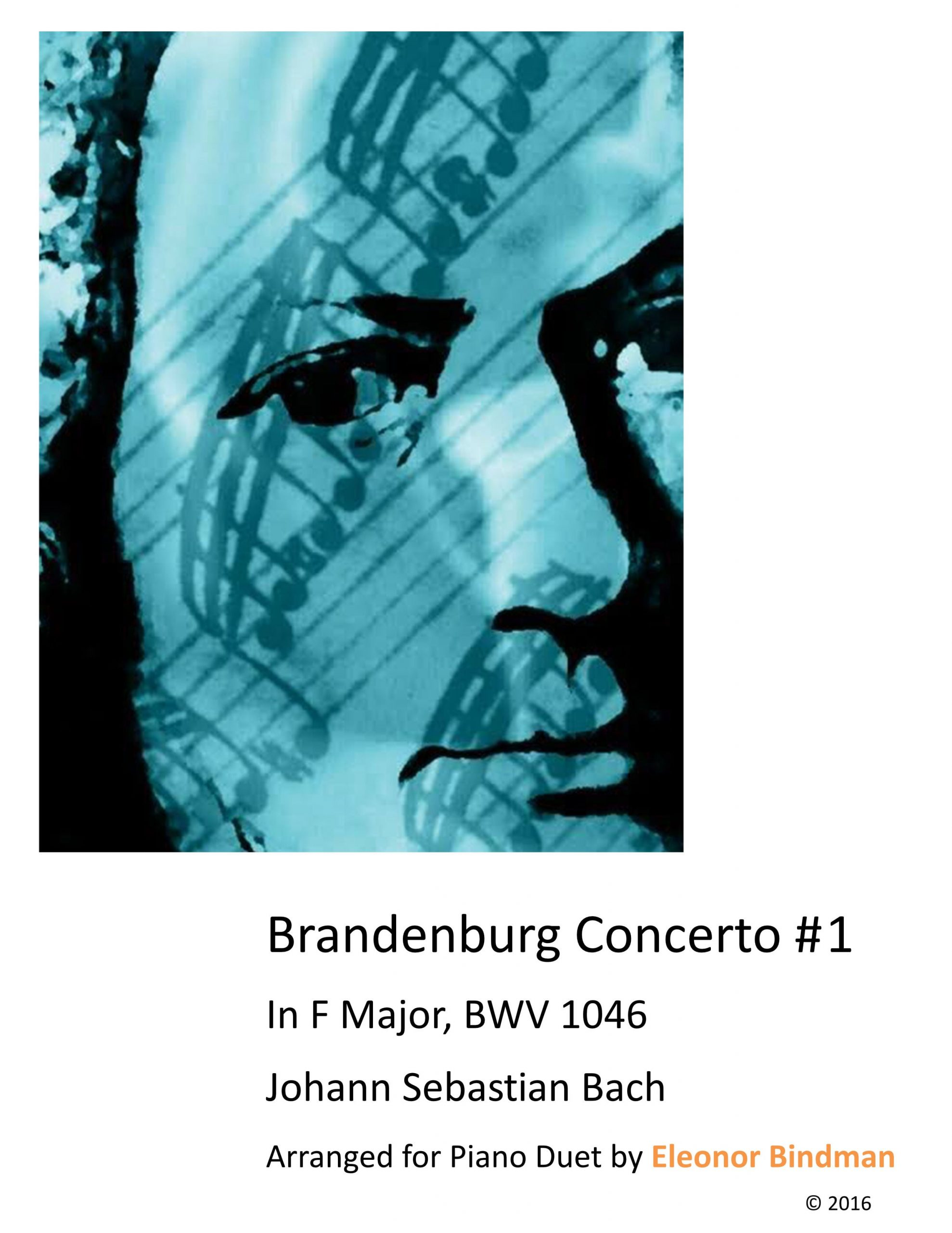Brandenburg Concerto No. 1 Arranged for Piano Duet