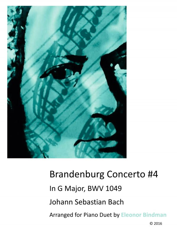 Brandenburg Concerto No. 4 Arranged for Piano Duet